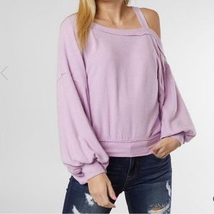Free People Flaunt It Cold Shoulder Sleeve Top